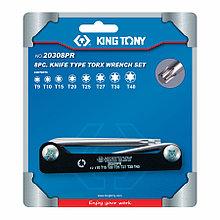 KING TONY Набор Г-образных TORX, T9-T40, складные, 8 предметов KING TONY 20308PR