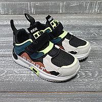 Кроссовки бежевые для мальчиков (салатово-коричневые sport (inene))