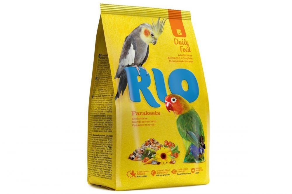 Корм для средних попугаев основной рацион, Rio - 500 гр