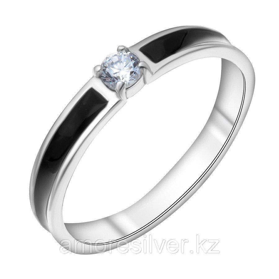 Кольцо Красная Пресня серебро с родием, фианит, классика 2388256Д1 размеры - 17 17,5