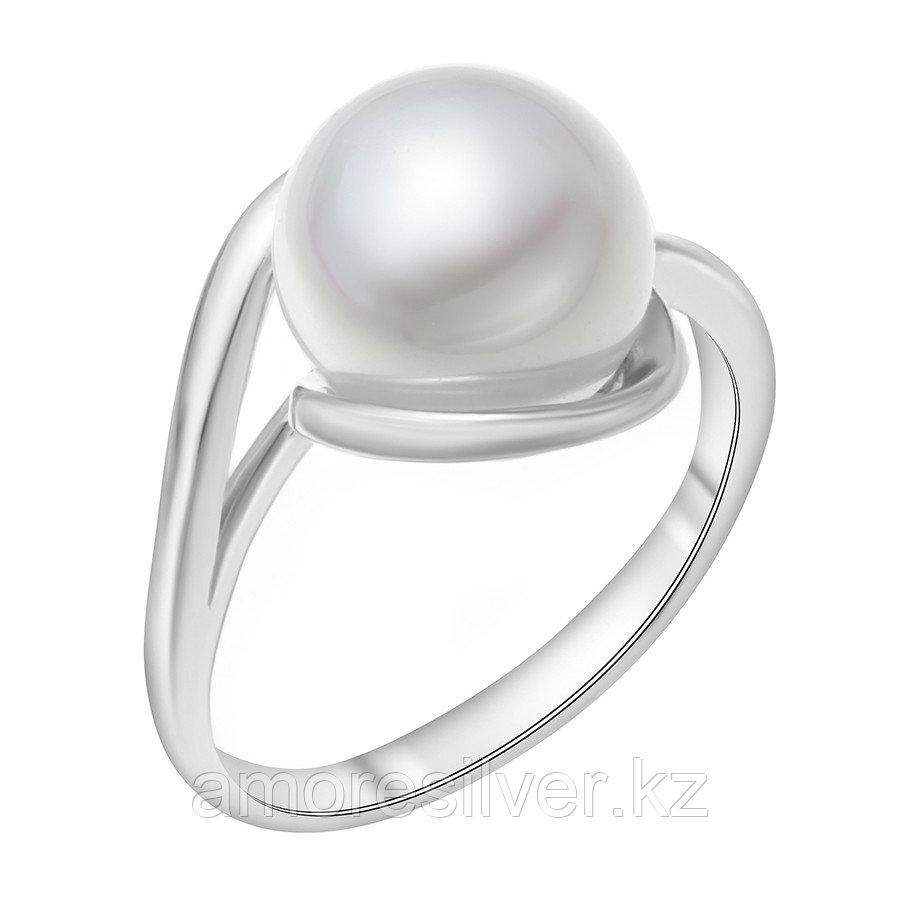 Кольцо Красная Пресня серебро с родием, жемчуг имит., , модное 2362191Д