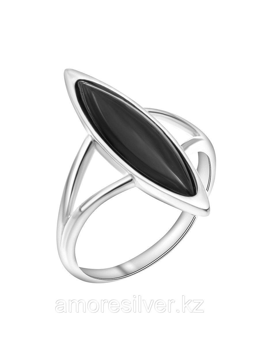 Кольцо Красная Пресня серебро с родием, агат черный 23611120Да размеры - 18