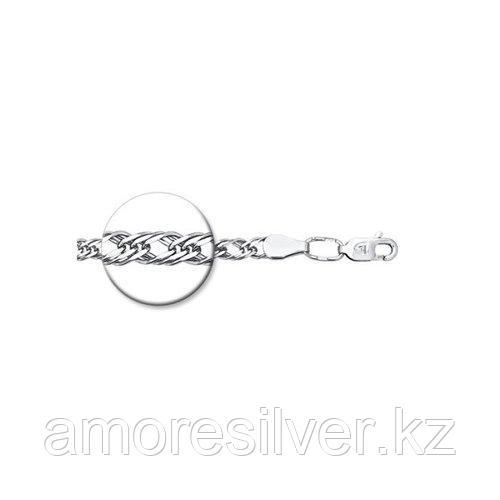 Цепь SOKOLOV серебро с родием, без вставок, ромб тройной 968220402 размеры - 50 55 60