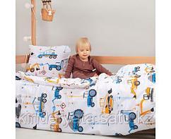 PITUSO Постельное белье 4 пр. со спальным местом 160*80 и 160*70 Юный строитель