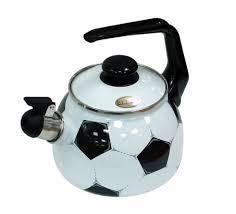 """Чайник эмалированный со свистком """"Football"""" 2,5 литра"""