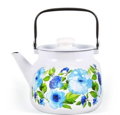 """Чайник эмалированный """"Синий лен"""" 3,5 литра"""