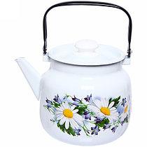 """Чайник эмалированный """"Ромашковое поле"""" 3,5 литра"""