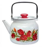 """Чайник эмалированный """"Ласковый май"""" 3,5 литра"""