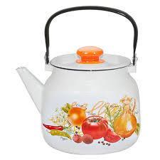 """Чайник эмалированный """"Итальянская кухня"""" 3,5 литра"""