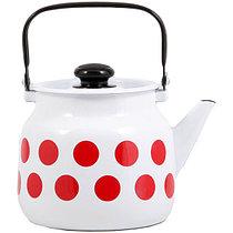 """Чайник эмалированный """"Горох красный"""" 3,5 литра"""