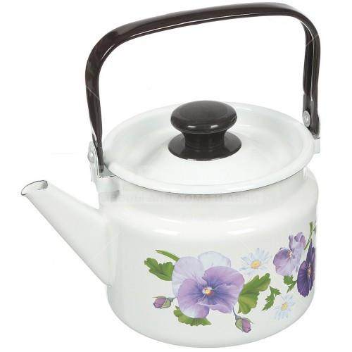 """Чайник эмалированный """"Анютины глазки"""" 3,5 литра"""
