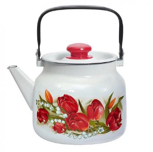 """Чайник эмалированный """"Ласковый май"""" 2,5 литра"""