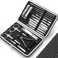 Набор для ухода за ногтями и лицом из 18 предметов Alizee в футляре (Черный)