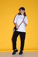 Женские осенние трикотажные черные спортивное большого размера брюки Bliss 280 черный 48р.