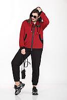 Женский осенний трикотажный красный спортивный спортивный костюм Lady Secret 2744 красный 50р.