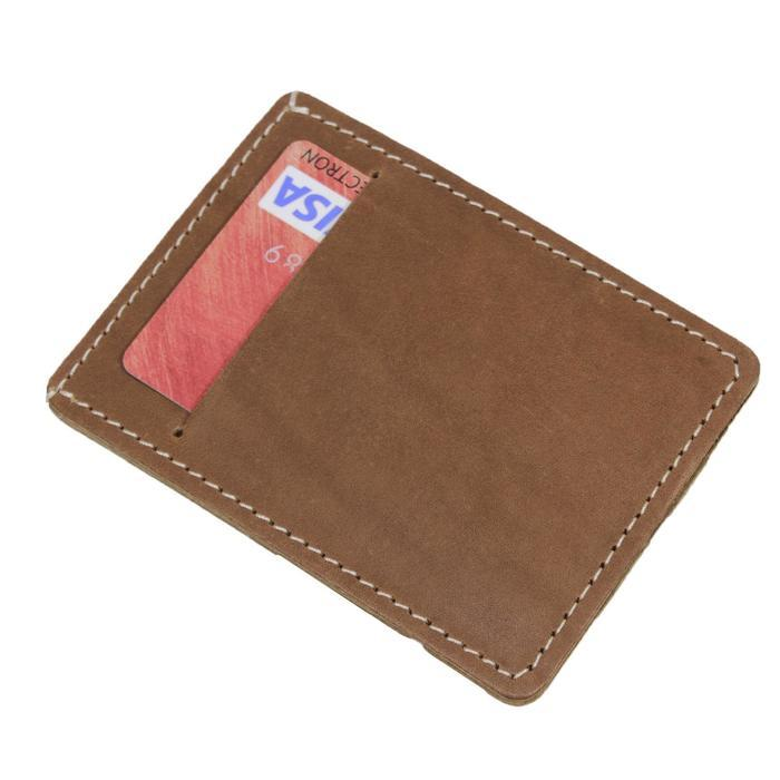 Обложка для проездного, отдел для купюр, цвет коричневый