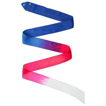 Лента гимнастическая многоцветная Pastorelli, 5м, FIG, цвет синий/малиновый/белый