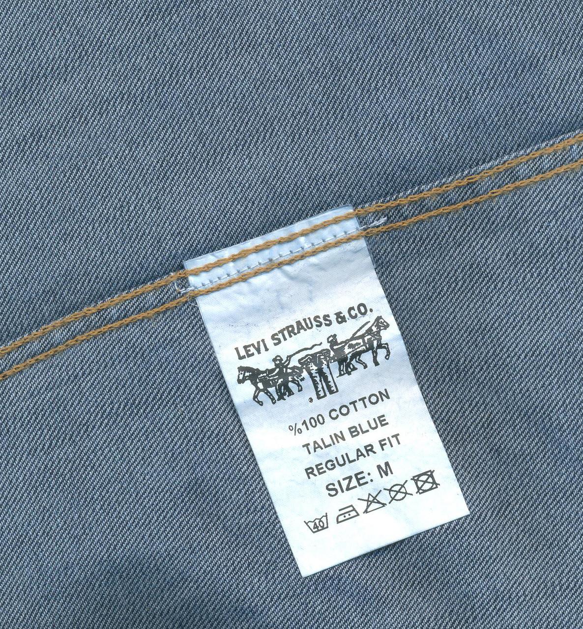 "Джинсовая рубашка ""Levi's"" (L / 48) - фото 3"