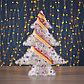 """Фигура текстиль """"Ёлка с шариками"""", 15 LED, 48х39 см, от батареек (не в компл), фото 2"""