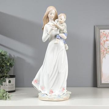 """Сувенир керамика """"Мама с сыном и белой голубкой"""" 36х17х13 см"""