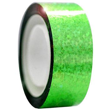 Обмотка для гимнастических булав и обручей Diamond флюо-зелёная металл. клейкая