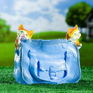 "Фигурное кашпо ""Котята в сумке"" 25х12см"