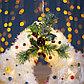 "Фигура текстиль ""Колокольчики с шариками"", 20 LED, 42х27 см, от батареек (не в компл), фото 3"
