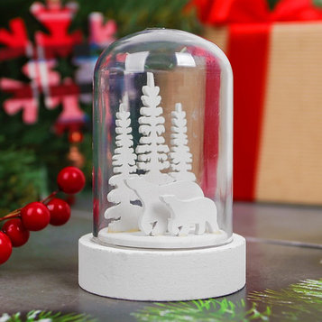 """Новогодний сувенир с подсветкой """"Зимние мишки"""""""