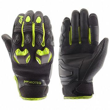 Перчатки кожаные Stinger, чёрный/жёлтый, L