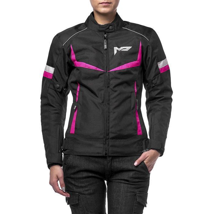 Куртка женская ASTRA черно-розовая, S