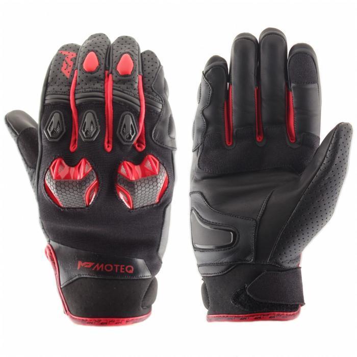 Перчатки кожаные Stinger красные, S