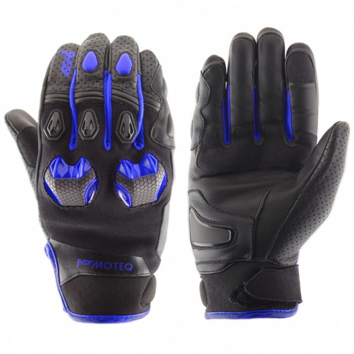 Перчатки кожаные Stinger синие, L