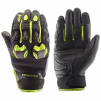Перчатки кожаные Stinger флуоресцентно-желтые, M