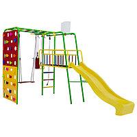 Детский спортивный комплекс уличный Street 3 Smile, цвет салатовый/радуга
