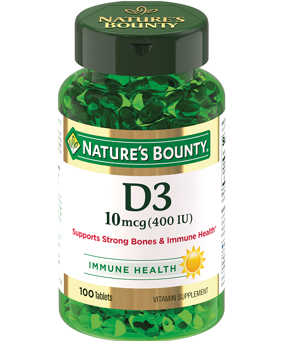 Natures Bounty Витамин Д3 400МЕ №100 таб