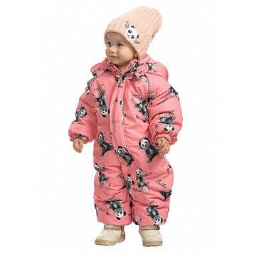 Комбинезон для девочек, рост 98 см, цвет розовый