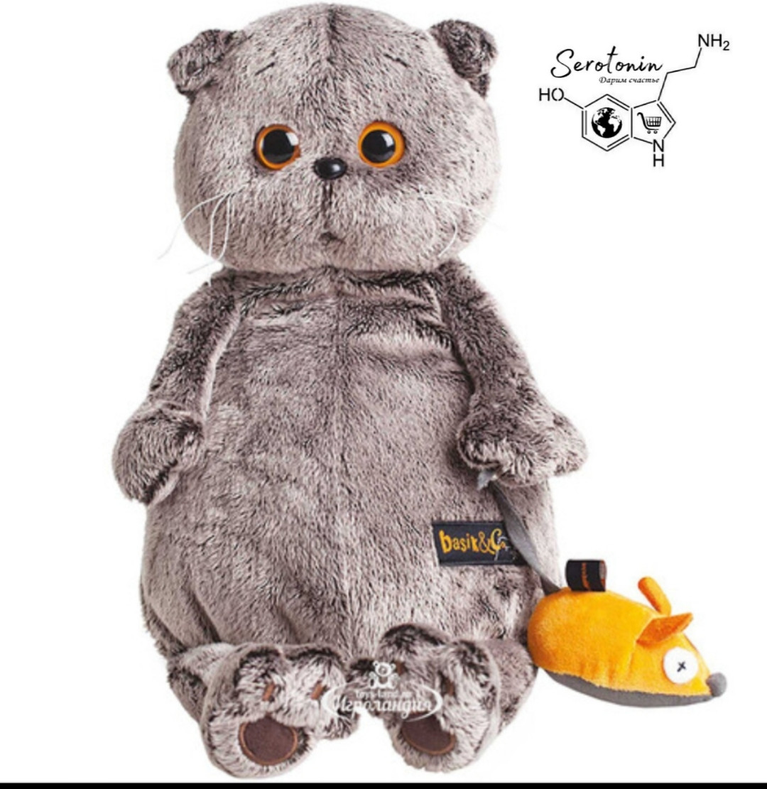 Плюшевая игрушка кот - Басик 30 см