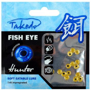 Приманка съедобная солёная Takedo «Окуневый глаз» 5 мм, аромат мотыль (набор 15 шт.)