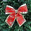 """Новогоднее украшение """"Бант"""" 33х35 см, красный"""