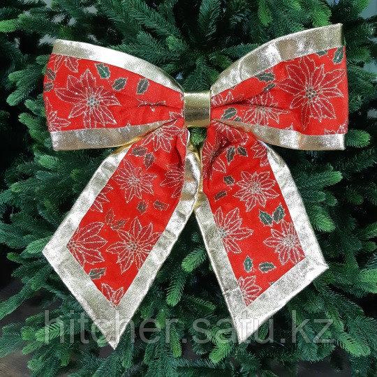 """Новогоднее украшение """"Бант"""" 43х45 см, красный"""