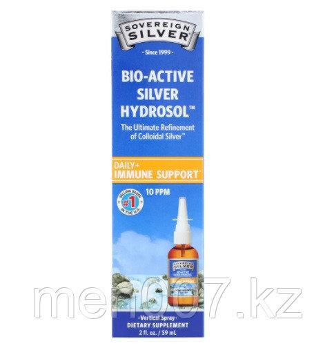 Sovereign Silver, Bio-Active Silver Hydrosol, поддержка иммунитета, вертикальный спрей, 10 ч/млн, 59 мл
