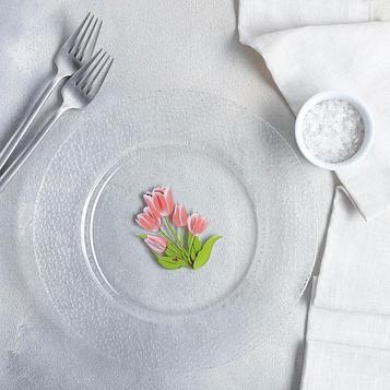 Тарелка Invitation «Весенние тюльпаны», d=24 см
