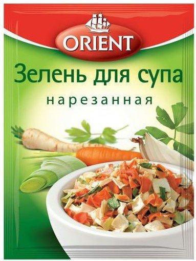 Приправа Зелень для супа нарезанная ORIENT, пакет 14 г