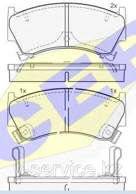 Тормозные колодки YOTO G-111(MD 1202M(REMSA 592.12)