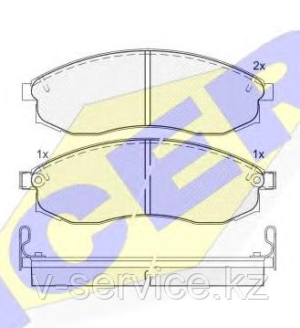 Тормозные колодки YOTO G-112(MD 1224M(REMSA 598.02)