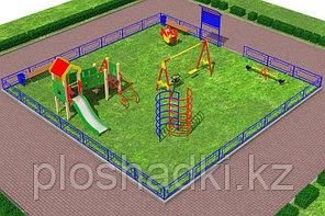 Детская площадка игровой комплекс, воркаут, качалка на пружине, качеля балансир, скамейки, урна