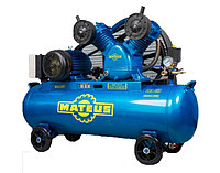 Компрессор Mateus MS03304 (YV-0.17), 1.5 кВт, 170 л/мин, 62 л, 8 бар