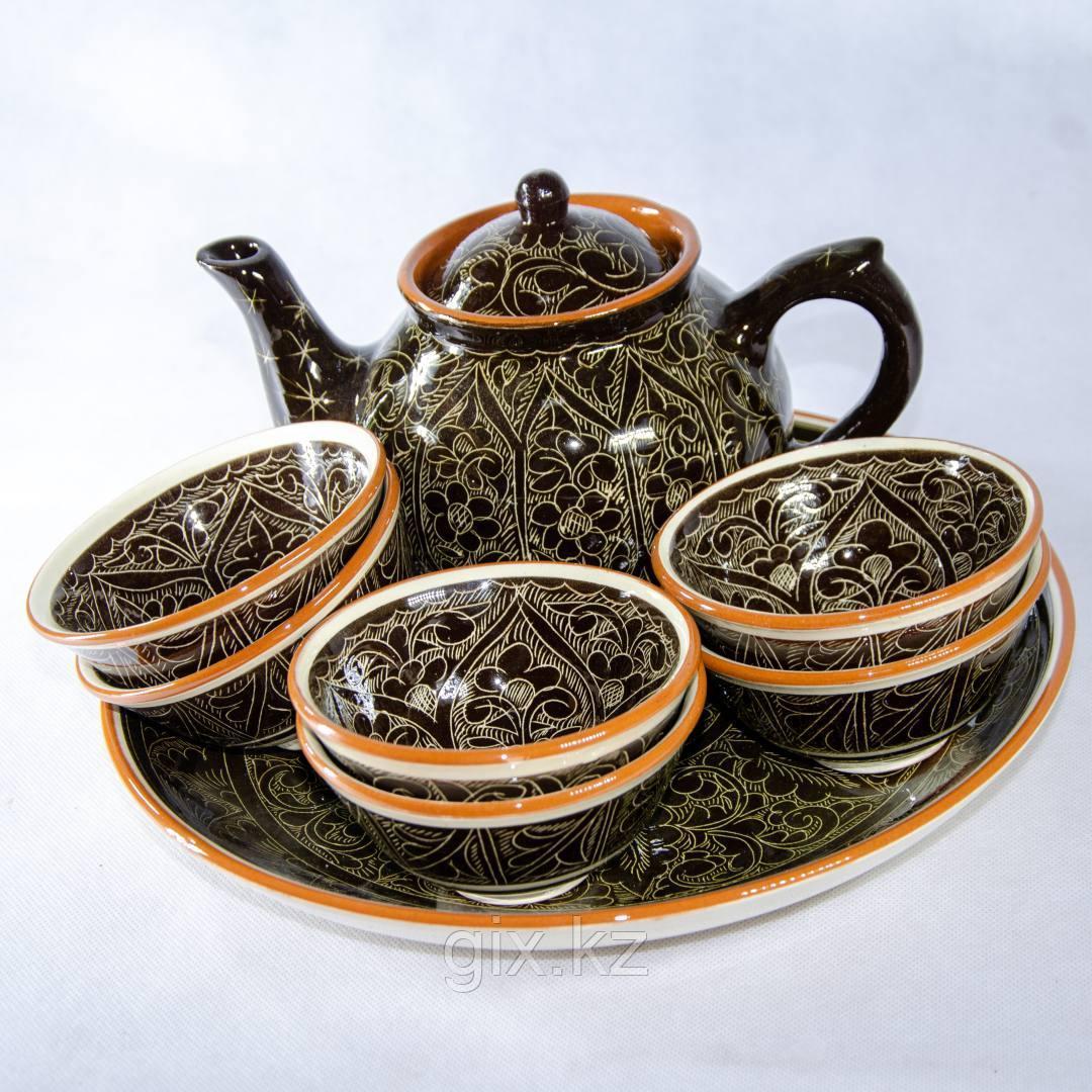 Чайный сервиз коричневый