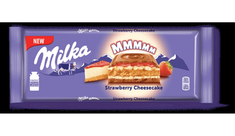Шоколад молочный Milka Strawberry Cheesecake клубника чизкейк MMMAX (300 грамм) /Швейцария/