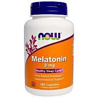 Мелатонин 3 мг, 180 капсул, Now Foods.